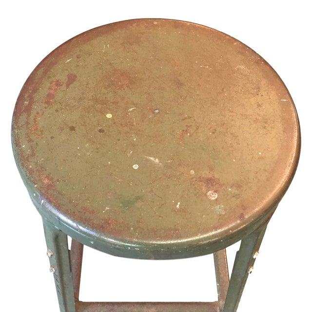 Vintage Industrial Metal Stool - Image 2 of 4