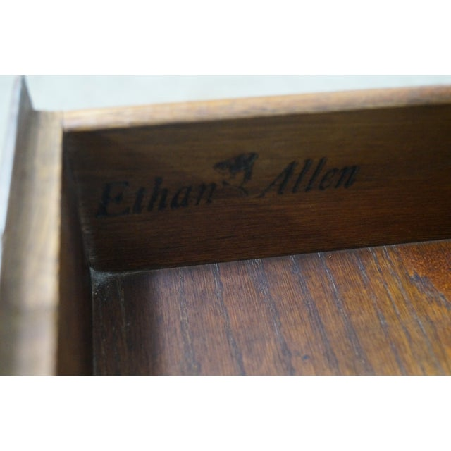 Ethan Allen Royal Charter Oak Nightstands Chests - A Pair - Image 10 of 10