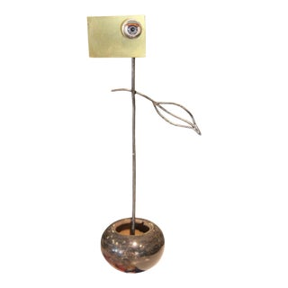 2021 Victor Rojas Abstract Surrealist Style Eyeball Metal Mixed-Media Sculpture For Sale