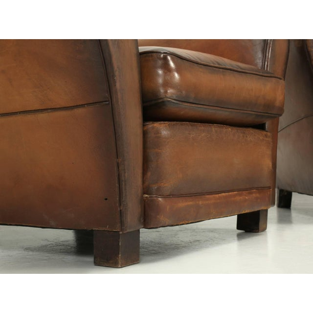 Animal Skin French Art Deco Original Cloud Back Style Club Chairs in Incredible Condition For Sale - Image 7 of 10