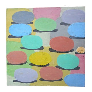 """Original Signed Vintage Abstract Oil/Board """"Rolling Out Spring"""" For Sale"""