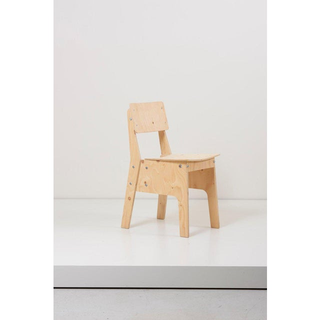 Gray 1 of 3 Crisis Chairs by Piet Hein Eek in Plywood For Sale - Image 8 of 13
