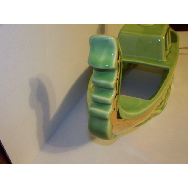 Mid-Century Green Boat Lamp For Sale - Image 10 of 11
