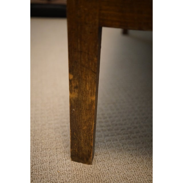 Blue Mid-Century Robert Allen Upholstered Cane Settee For Sale - Image 8 of 13