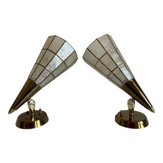 Feldman Capiz Wall Lights - a Pair For Sale