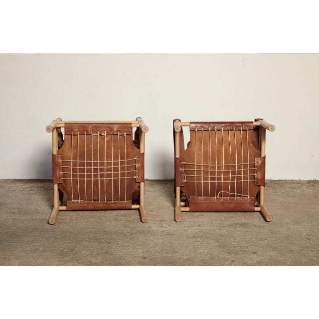 Pair of Arne Norell Sirocco Safari Chairs, Norell Mobel, Sweden, 1970s For Sale - Image 10 of 13