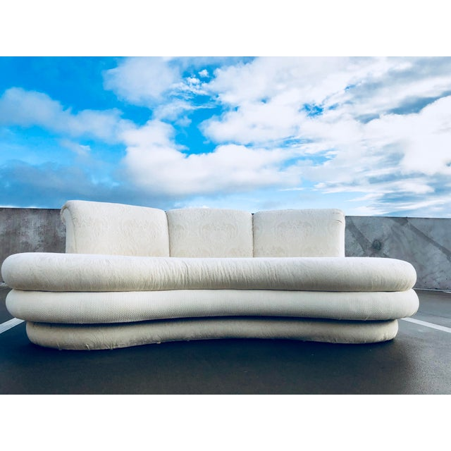 """1980s Vintage Adrian Pearsall for """"Comfort Designs"""" Curved Kidney Shaped Sofa For Sale - Image 9 of 9"""