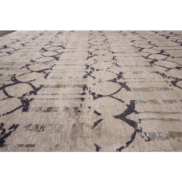 "Apadana - 21st Century Contemporary Indian Rug, 8' x 9'9"" For Sale - Image 5 of 7"