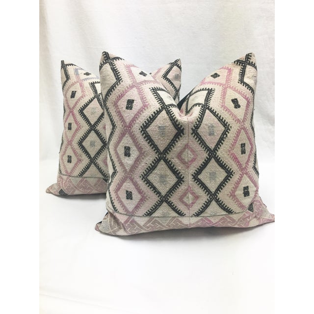 Large Chinese Wedding Blanket Pillows - a Pair - Image 2 of 9