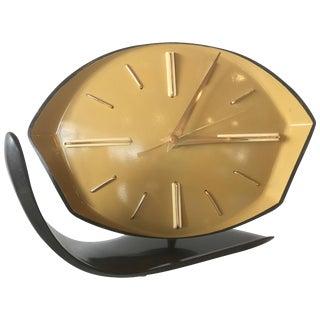 1940s Geometric Modern Age Bakelite Table Clock For Sale