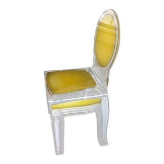 Louis XVI Lucite Chair For Sale
