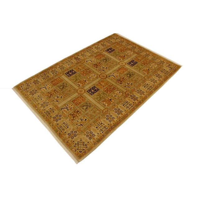 Contemporary Semi Antique Istanbul Cammy Tan/Gold Turkish Hand-Knotted Rug -4'2 X 6'0 For Sale - Image 3 of 8