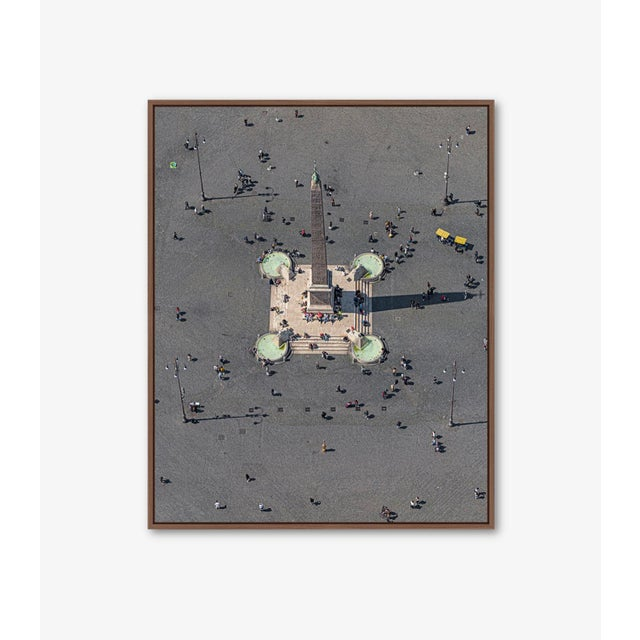 """Edition Aerial Views Bernhard Lang Image: """"Obelisco Flaminio"""" Size A: 47,2 x 59,0 inches, Captured in 2019 over Rome,..."""