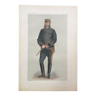 1880s Vintage Vanity Fair General Sir F. Roberts Print For Sale