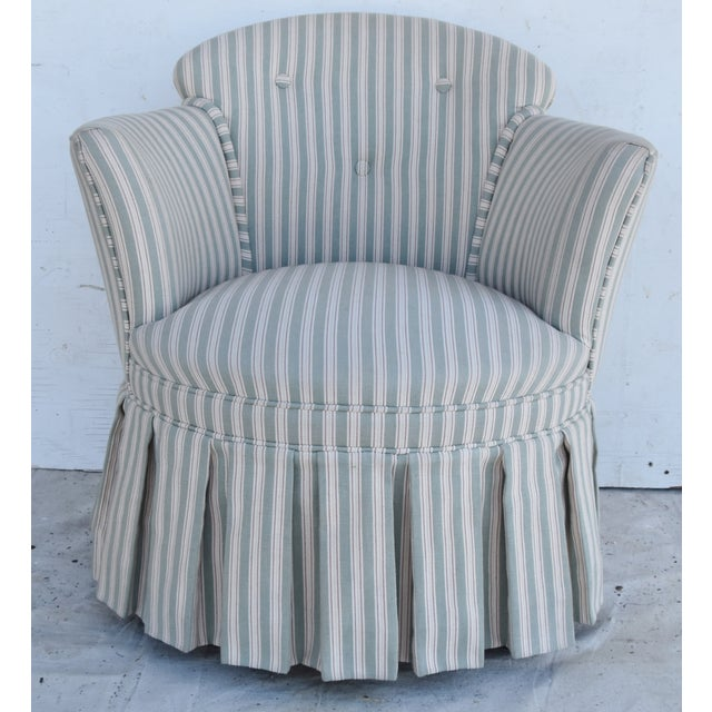 Adirondack Vintage Scalamandre Upholstered Vanity Accent Side Chair For Sale - Image 3 of 12