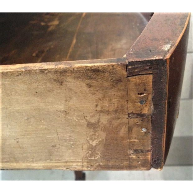 18th Century English Hepplewhite Inlaid Mahogany Pembroke Table With Oval Leaves For Sale - Image 4 of 13