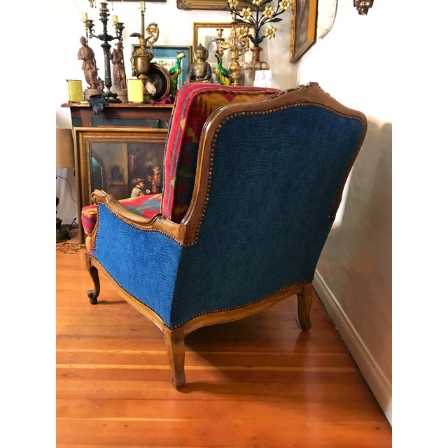 19th Century French Upholstered and Carved Armchair For Sale In Los Angeles - Image 6 of 13