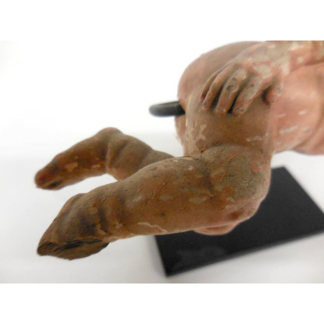 Early 19th Century Spanish Colonial Sleeping Nino Sculpture For Sale - Image 5 of 6