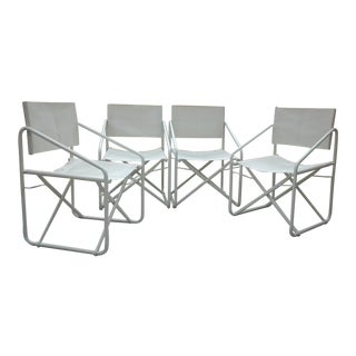 Vintage Mid-Century Brown Jordan Patio Chairs - Set of 4 For Sale