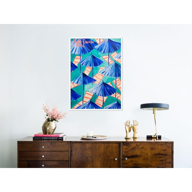 Contemporary Cabana 9 by Lulu DK in White Framed Paper, Medium Art Print For Sale - Image 3 of 4