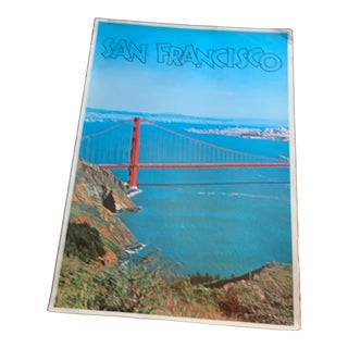 1970s San Francisco Golden Gate Bridge Travel Poster Print For Sale