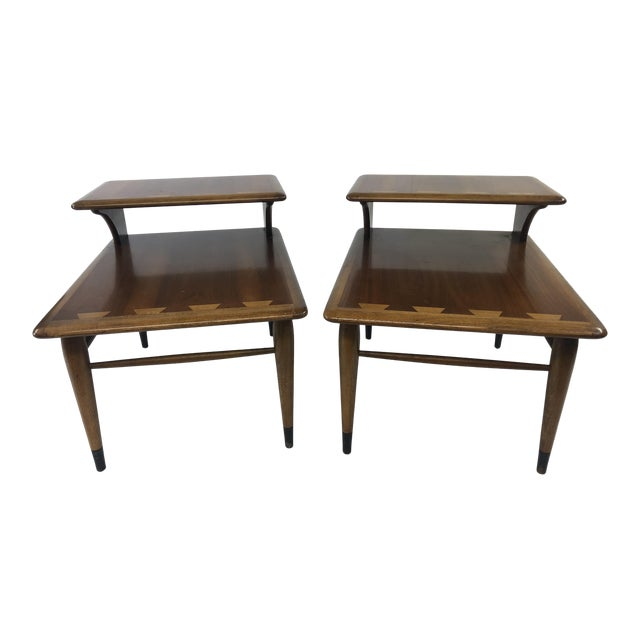 Vintage Mid Century Modern Step Tables - a Pair - Acclaim by Lane Furniture For Sale