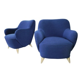 Vladimir Kagan Barrel Lounge Chairs - a Pair For Sale