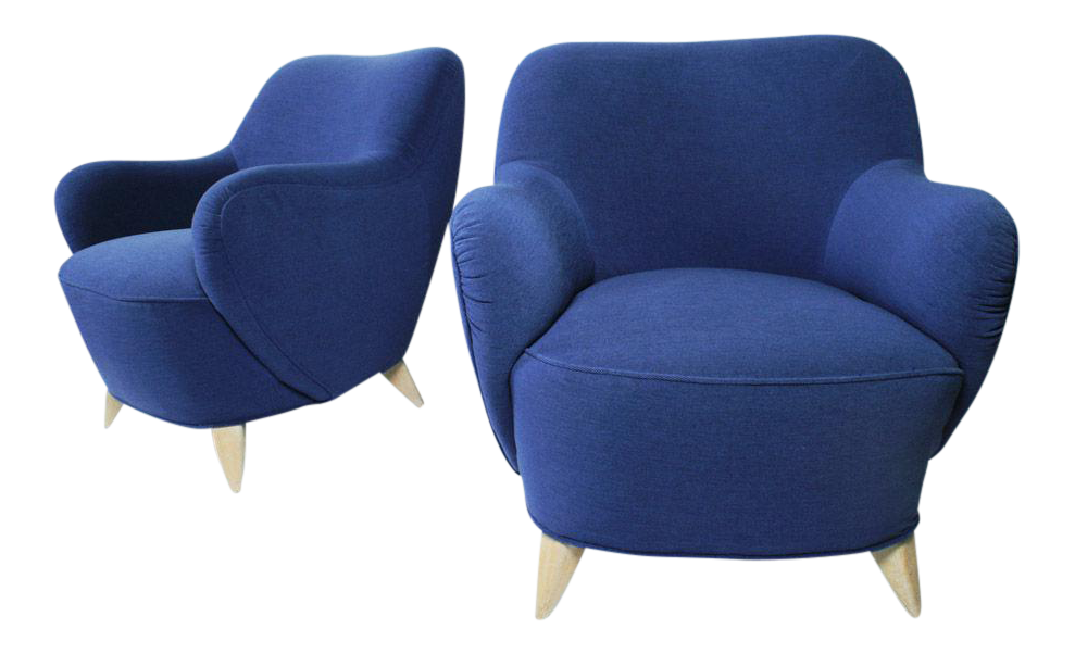 Vladimir Kagan Barrel Lounge Chairs   A Pair   Image 1 Of 7