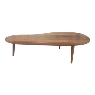 Mid-Century Modern Solid Walnut Coffee Table