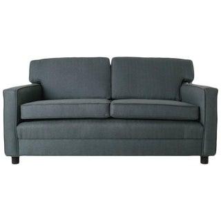 Mid-Century Modern Angular Gray Sofa Love Seat Settee