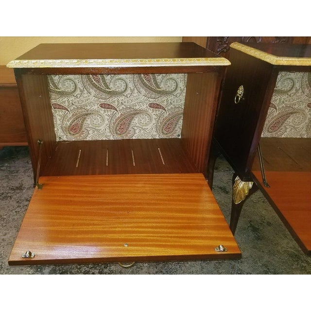 Chippendale Mahogany With Gilt Accents Side Tables / Nightstands - a Pair For Sale - Image 4 of 13