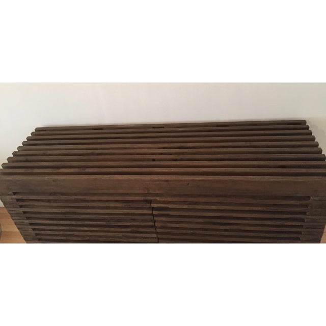 Restoration Hardware Slatted Door Sideboard - Image 7 of 7