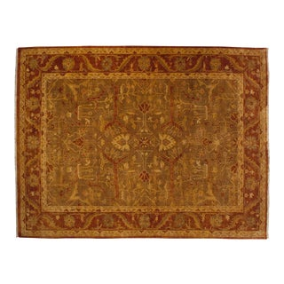 "New Gold Wash Indian Oushak Design Carpet - 9'10"" X 13'4"" For Sale"