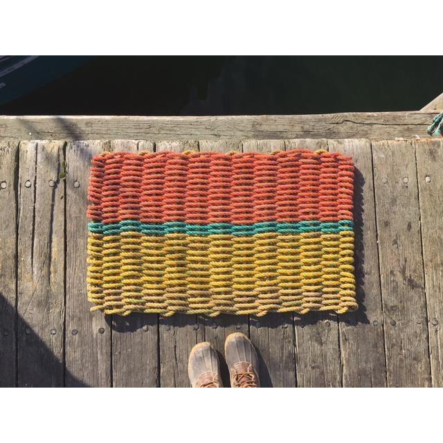"""Recycled Lobster Rope Doormat """"Peaks"""" - 1'7"""" x 2'10"""" - Image 5 of 5"""