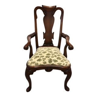 1960s Vintage Children's Size Queen Anne Arm Chair For Sale