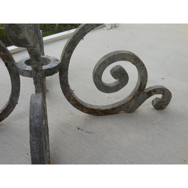 Vintage Palm Beach Iron Table - Image 9 of 11