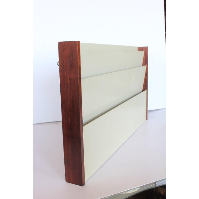 Mid-Century Modern Mid-Century Wall Mount Magazine Holder by Peter Pepper Products For Sale - Image 3 of 3