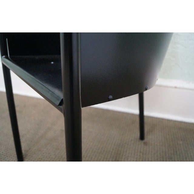 Philippe Starck Aleph Black Metal Chairs - A Pair - Image 8 of 9