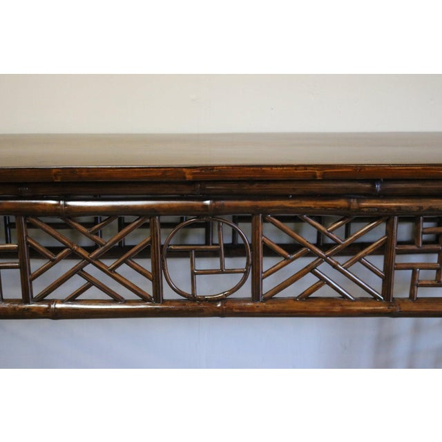 Late 19th Century Bamboo Altar Table For Sale In Los Angeles - Image 6 of 7