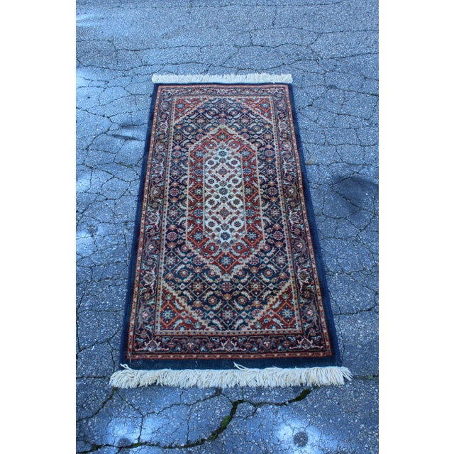 Early 20th Century Vintage Long Hallway Rug- 4′9″ × 2′1″ For Sale - Image 4 of 4