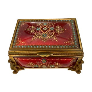Late 19th Century Antique French Enamel Box For Sale