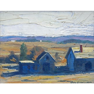 New England Impressionist Landscape Painting by John Wolcott, Circa 1920s For Sale