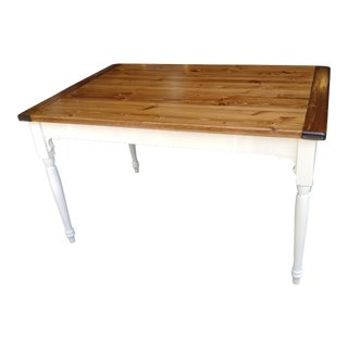 Custom Built Solid Wood Farmhouse Style Table