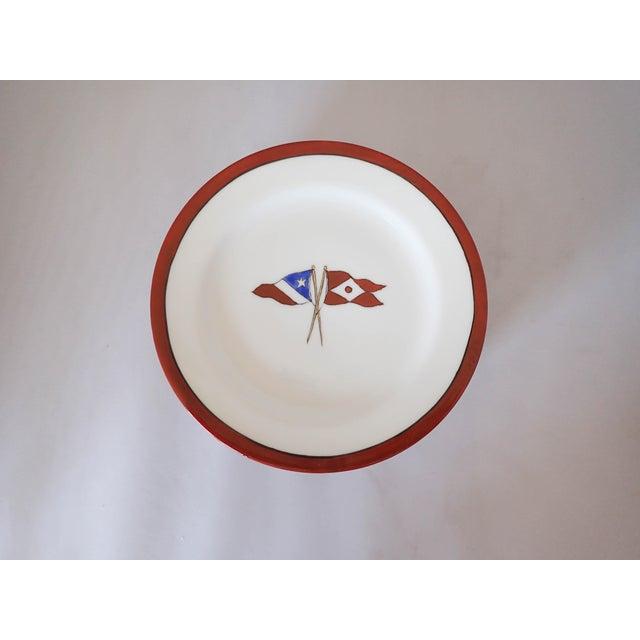 Circa 1902 Hartford Yacht Club Flags Bread Plates - Set of 8 - Image 3 of 6