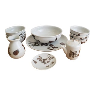 Japanese Bowls and Serving Pieces - Set of 11 For Sale