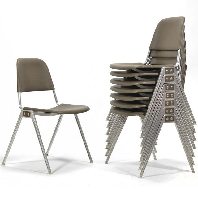 Don Albinson Stacking Side Chairs by Knoll Set of 14 For Sale - Image 11 of 11