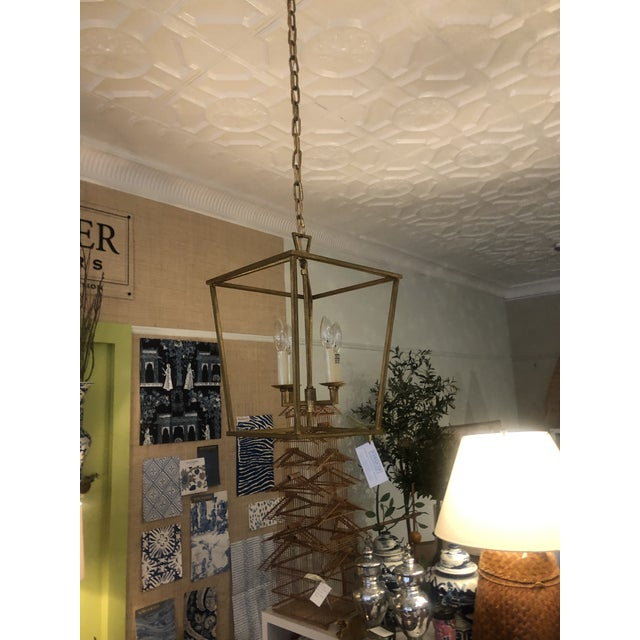Visual Comfort's Popular Darlana Small Lantern in Gilded Iron Finish. Aged gold finish. Takes 4E12 candelabra bulbs....