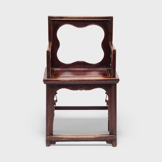 Wood 19th Century Chinese Rose Chairs - a Pair For Sale - Image 7 of 12