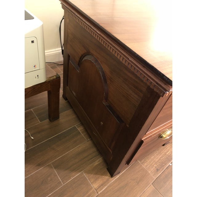 Brown 1990s Traditional Partner Mahogany Desk For Sale - Image 8 of 10
