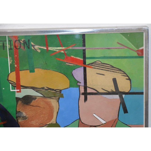 """Richard Merkin (1938-2009) """"Yamekraw, An Original Composition"""" Monumental Mixed Media Painting For Sale - Image 4 of 11"""